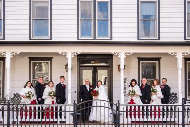 Read more about the article Jamesport Manor Inn Wedding | The Whitecap | Christmas Themed Wedding