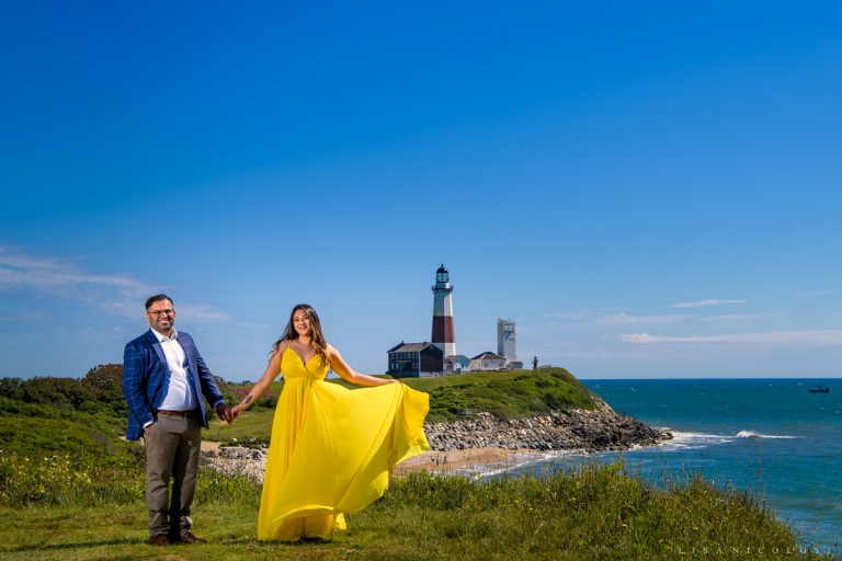 Montauk Lighthouse Marriage Proposal | Engagement Photography